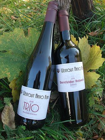 TRIO und Dornfelder Rotwein 2018